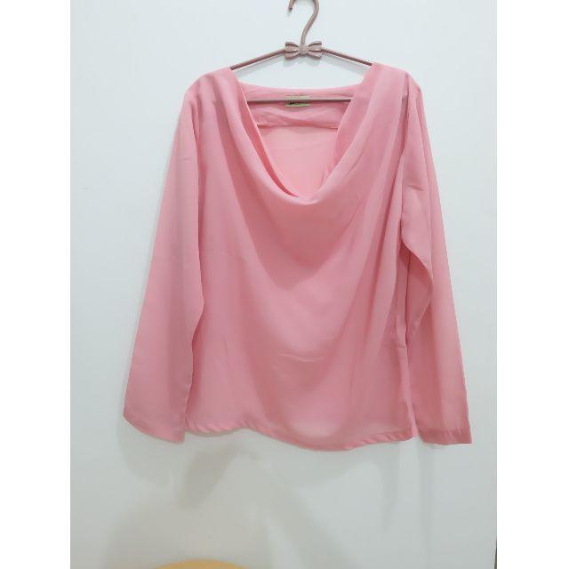 Pink Chiffon Blouse/Top
