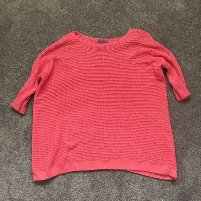 Pink Loose Fit Sweater