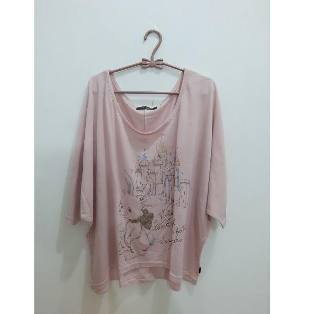 Pink Loose Top/Shirt