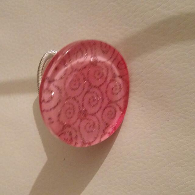 Pink Stretch Back Ring