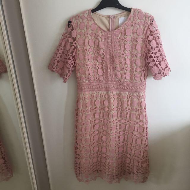 Pinkish / Peach Formal Dress Size L