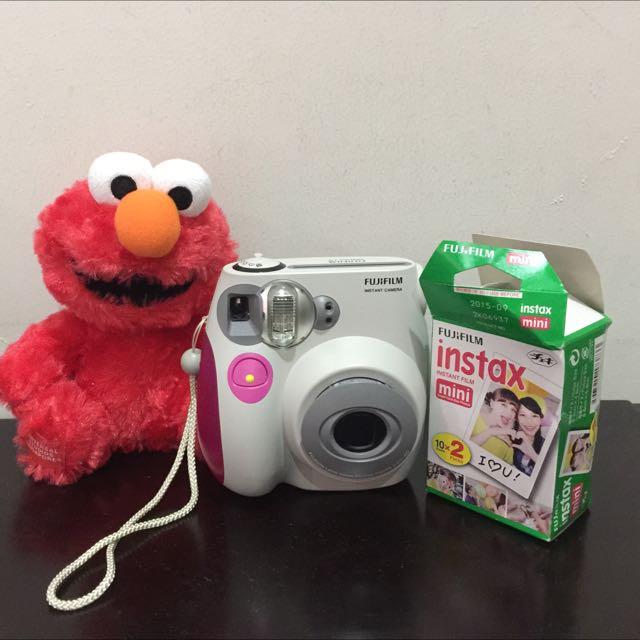 polaroid mini instax 7s+20 sheet polaroid paper (10 di dalam kamera), 10 masih dlm pack