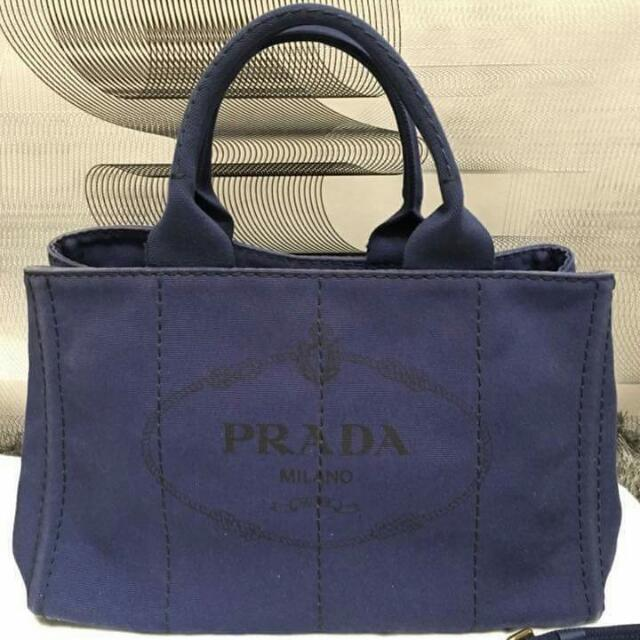 ac541f25e18d Prada Large Canvas Sling Bag, Luxury, Bags & Wallets on Carousell