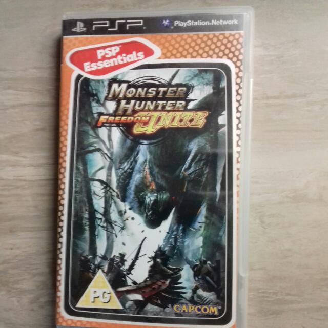 PSP Game Monster Hunter Freedom Unite