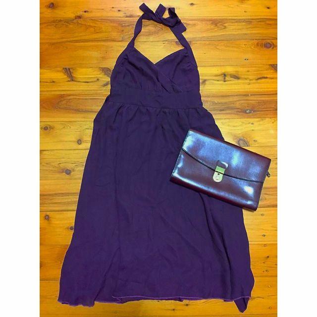 Purple Halter Dress Size 8