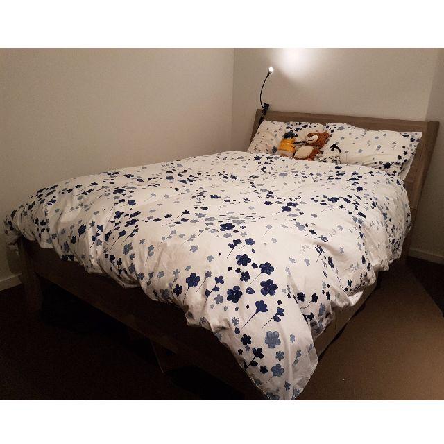 Queen Bed Frame & Mattress (IKEA)