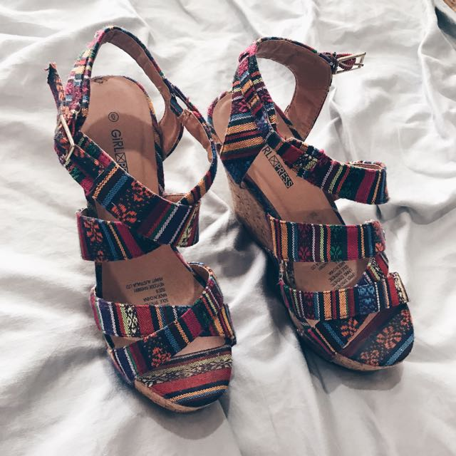 Rainbow Size 6 Wedge Heels