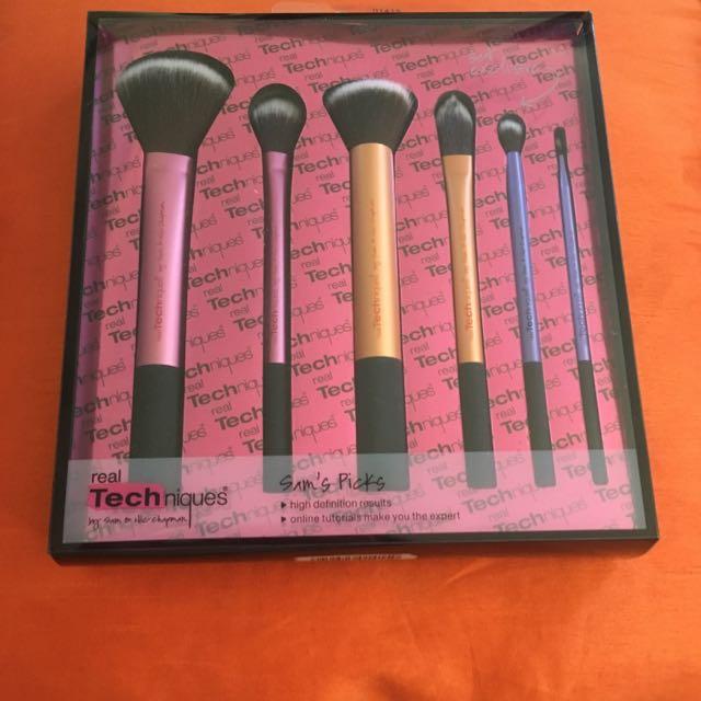 Real Techniques Sams Picks Makeup Brush Set Authentic bnib