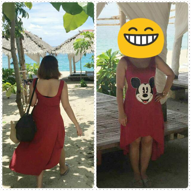 Red Mickey Mouse Cute Dress
