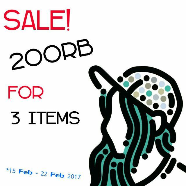 SALE 200rb - 3 items Bebas Pilih