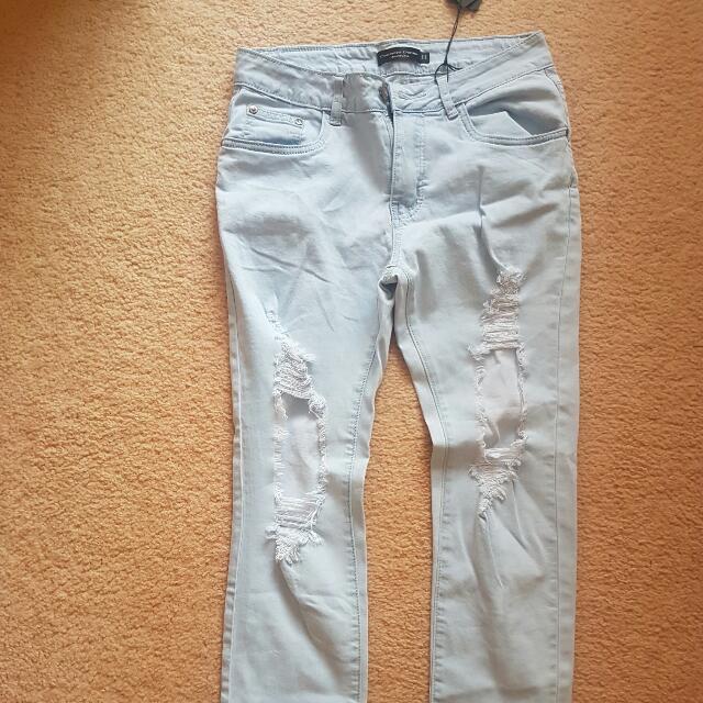 Shopo D'jango Ripped Boyfriend Jeans Size 11