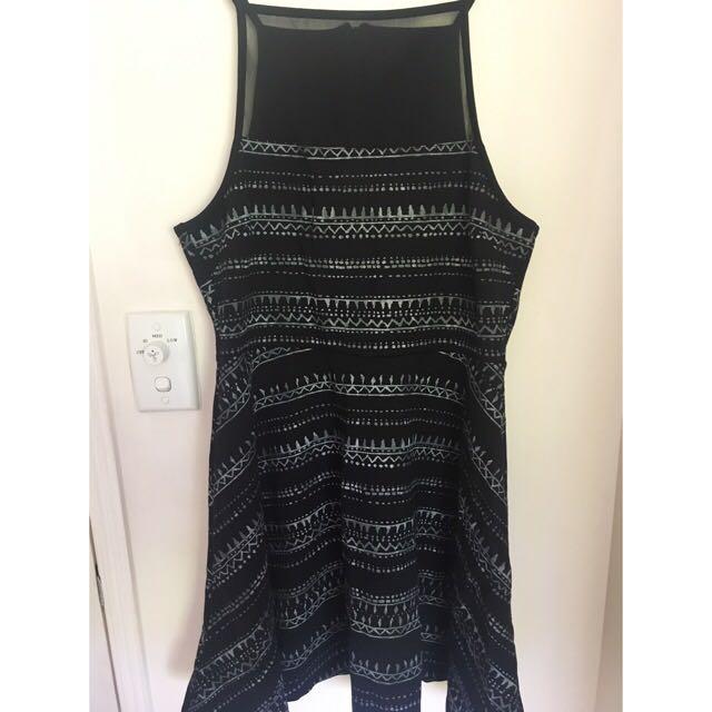 Size L Factorie Mesh Bust Skater Dress