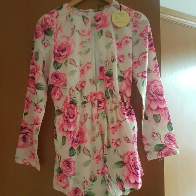 Small Floral Playsuit New