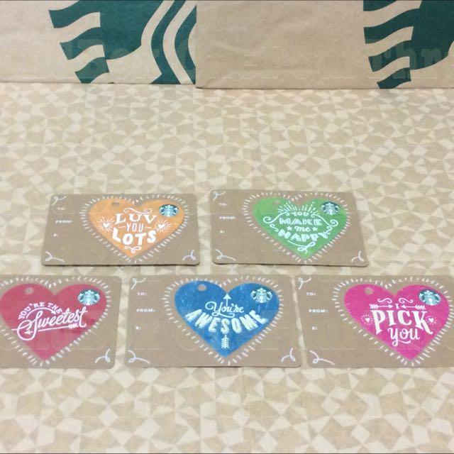 Starbucks Heart die cut Collectible Cards