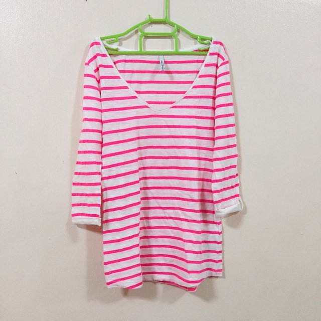 Stradivarius Pink Stripes Top