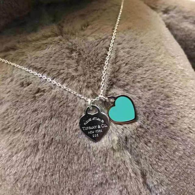Tiffany&co Blue Heart Necklace