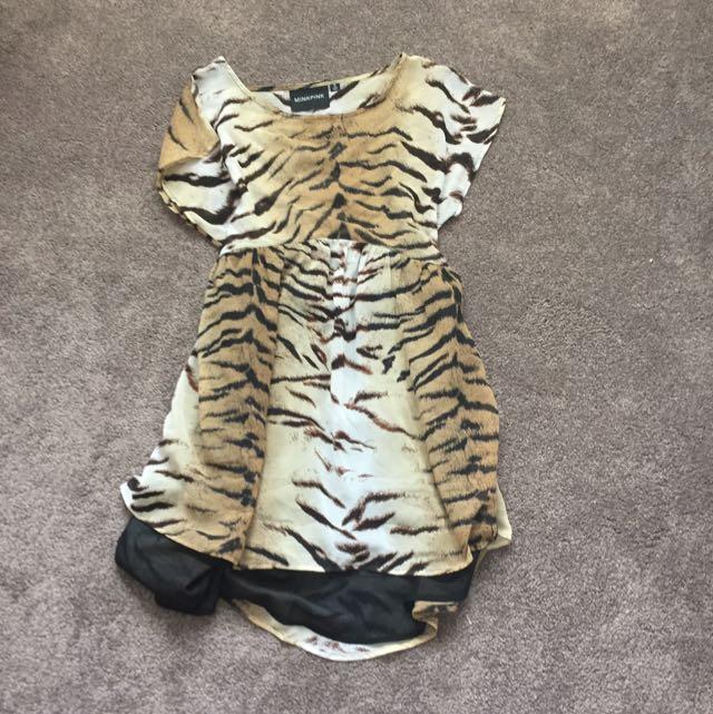 Tiger Print Dress (small)