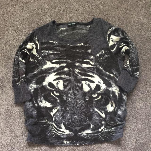 Tiger Print Jumper (size 12)