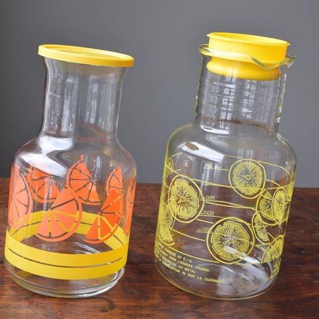 Vintage Pyrex Juice Jugs