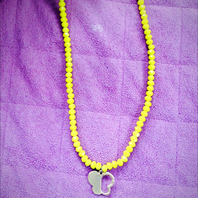 Yellow Swarovski Necklace