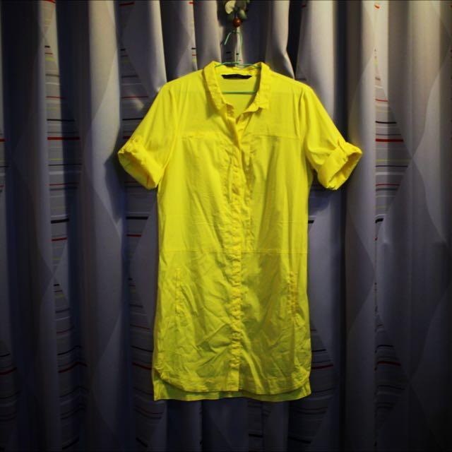 ZARA 黃色襯衫洋裝