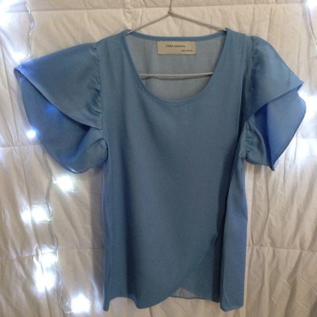 Layered Blouse In Blue