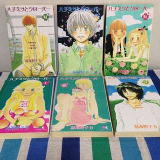 Hachimitsu to Clover (Honey and Clover) by Umino Chica Japanese manga 1-6