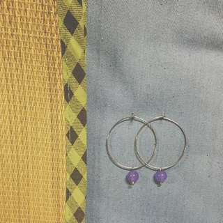 。手做。想點什麼就點什麼     *小紫玉* 天然石耳環