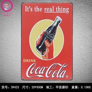 🚚 復古可口可樂鐵皮畫一套三張免運費