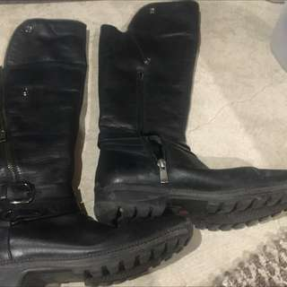 Black 8.5 Blondo All Leather Boot