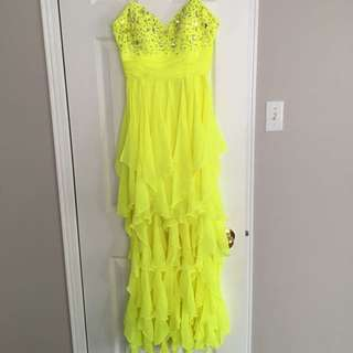 Neon Yellow Backless Dress