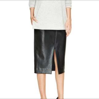 ARITZIA VEGAN LEATHER SKIRT SIZE 0