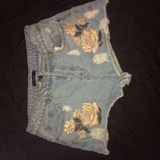 F21 Flower Shorts