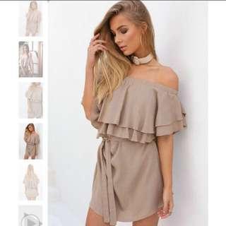 Size S Of Shoulder Dress Nude
