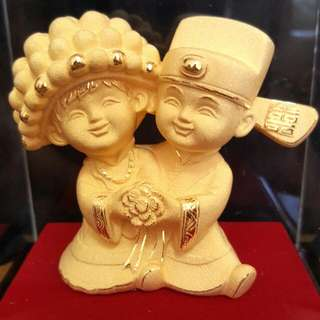 Gold Couple Statue (百年好合)