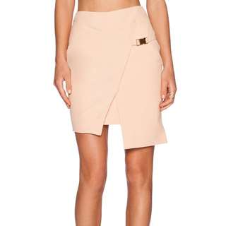 Minty Meets Munt Asymmetrical Skirt - S - Apricot (Nude Coral)