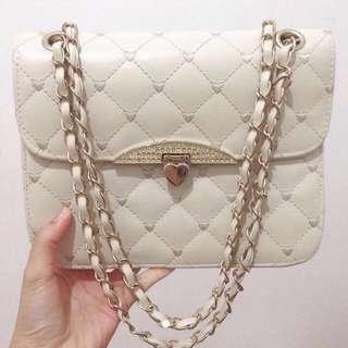Tas Chain Bag white gold