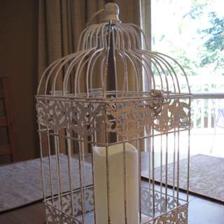 Beautiful Vintage Bird Cages With LED Candle