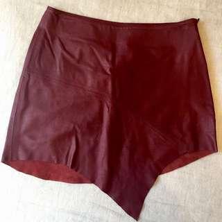 Friend Of Mine Leather Skirt