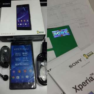 Sony Xperia Z2 4G Lte all set ori, Like New