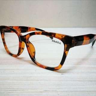 Leopard Prada Eyeglasses Frame