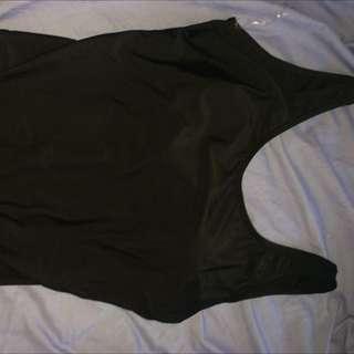 Black Low back Swimming Costume