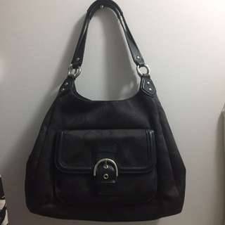 Authentic Coach Black Hobo