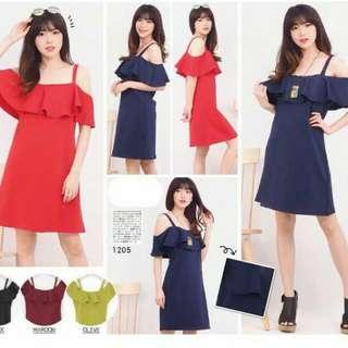 Sabrina Dress Ld 100 Bahan Scuba