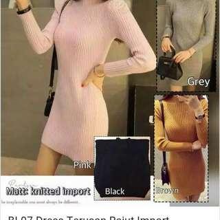 Midi Dress #size M saja Rajut import