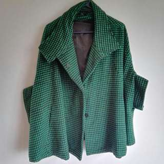 Poncho Green Jacket