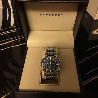 BURBERRY三眼計時錶