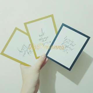 Calligraphy Greeting Cards (Set)