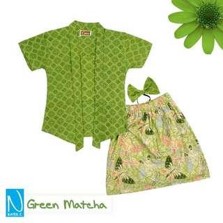 Set Kebaya Anak Kutubaru Anak Baby Balita GREEN