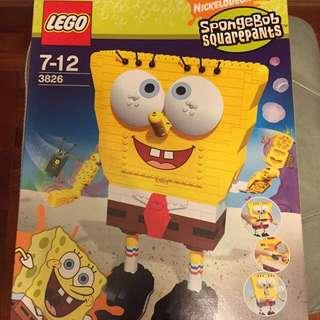 3826 Lego,已絕版,靚盒,海棉寶寶,收藏一流